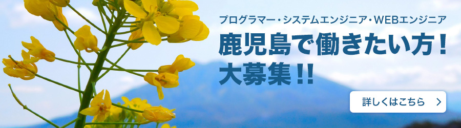 鹿児島で働きたい方、大募集!